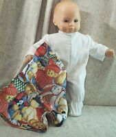 """Doll Clothes Baby Made2Fit American Girl Boy 15"""" Sleeper Blanket Stuffed Animals"""