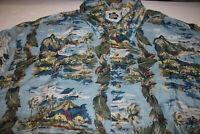 Hilo Hattie The Hawaiian Original Men's 100% Silk Short Sleeve Shirt Size:XL