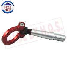 RED ALUMINUM RACING SCREW IN TOW HOOK Front Rear FOR Mitsubishi Lancer Evo EX