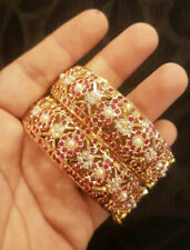 Indian Jewelry 2PC Bollywood Jadau Hyderabad New Gold Plated Kada Set Ak 950