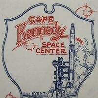 Vintage NASA Cape Kennedy Luggage Label Decal Titan Rocket Gemini 1960-70's