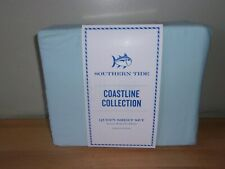 Southern Tide Coastline Blue Mist Aqua 4 Pc Queen Sheet Set Garment Washed Nip