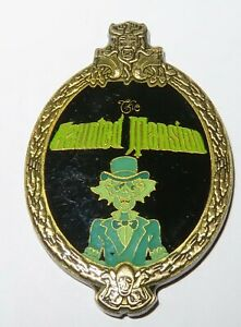 Disney Pin 132 The Haunted Mansion Hitchhiking Ghost Ezra Oval Brass Framed