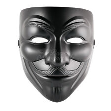 Mens V for Vendetta Masquerade Costume Halloween Guy Fawkes Mask [Black]
