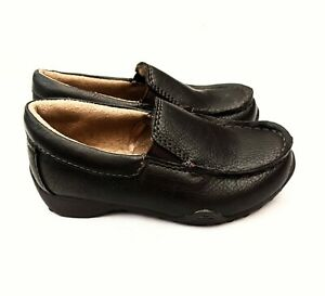 NWOB Toddler Boys Slip On Loafers Size 7 The Children's Place Faux Leather