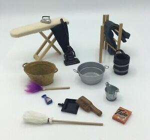 Dolls House Cleaning And Laundry Accessories