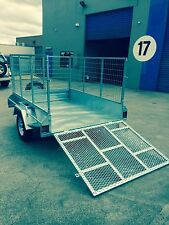 GALVANISED  7X5 BOX TRAILER WITH 900MM CAGE