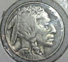 1930-S Buffalo Nickel 5c Cent Old U.S. Coin