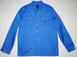DC Shoes Mens Rouger Rain Winbreaker Snap Up Light Weight Jacket Medium $76