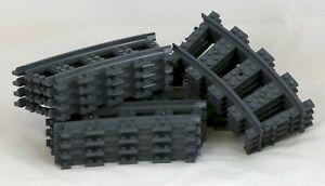 LEGO City 16 x Curved Track Train Rails NEW BULK LOT