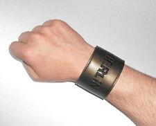 Berlin Lederarmband Handgelenkbörse Armband bronze bracelet leather wallet purse