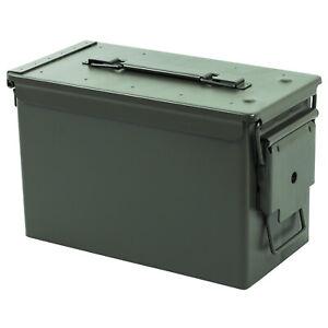 Nitehawk 50. Cal Army Ammo Metal Ammunition Surplus Storage Tool Box