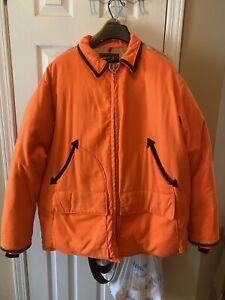 Vintage 10-X America's Finest Sport Clothing Men's Jacket L Coat Hunting Orange
