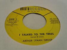 Arthur Lyman Group 45 Never On Sunday/I Talked to the Trees HiFi Exotica VG++