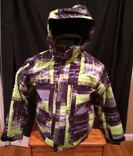 Ripzone Youth Size Large Snowboarding Jacket With Hood Green Ski Jacket Coat