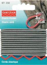 Corde élastique 2,5 mm gris 3 m - carte de Prym 971232 0,80€/ m