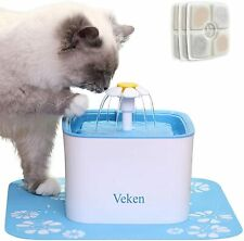 New listing Veken Pet Fountain, 84oz/2.5L Automatic Cat Water Fountain Dog Water Dispenser
