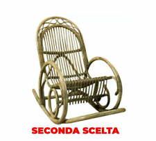 Sedia a Dondolo in Rattan Adami Fabio Noce Seconda Scelta
