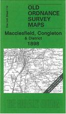 OLD ORDNANCE SURVEY MAP MACCLESFIELD CONGLETON ALSAGER BIDDULPH CREWE 1898