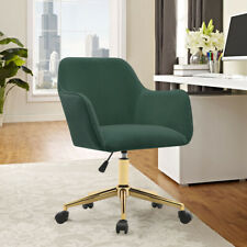 Occasional Swivel Office Chair Matte Velvet Lift Armchair Executive Sofa Bedroom