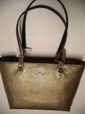 COACH Sophia Small hand Tote bag Gold Metallic Pebbled Leather style 37117 NEW!