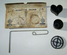 Alfred Andresen & Co. Cast Iron Rosette Patty Irons Timbales Handle + Wafer Iron