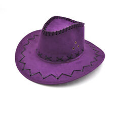 Cowboy Hat Faux Suede Wild West Fancy Dress Adults Mens Ladies Cowgirl Hen Stag
