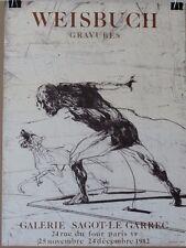 Claude Weisbuch (Gravures) 1982 Exhibition Poster, Galerie Sagot-Le Garrec,Paris