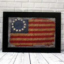 New Primitive Country Americana Betsy Ross American Flag Wall Sign Picture