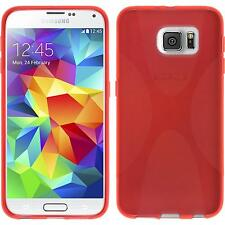 Coque en Silicone Samsung Galaxy S6 - X-Style rouge + films de protection