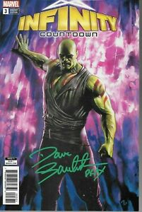 Infinity Countdown #3 DRAX VARIANT signed Dave Bautista ACTOR Guardians Galaxy