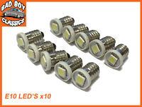 12v E10 LED Screw In Bulbs Dashboard Gauge Clocks x10