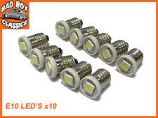 Auto Classica E10 lampadine LED Attacco A Vite Per Smiths Misuratori MG,FORD,