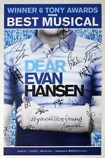 DEAR EVAN HANSEN February 2020 Cast Jordan Fisher Signed