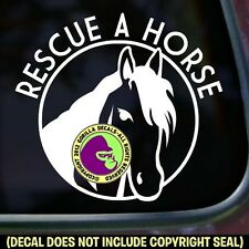 RESCUE A HORSE Vinyl Decal Sticker Equine BLM Slaughter Car Window Trailer Sign