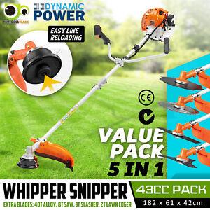 43cc Pole Brush Cutter Trimmer Line Whipper Snipper Tree Pruner Multi Garden