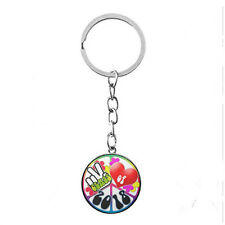 Vintage Glass photo Cabochon charm silver Matal Key ring(class of 2018,peace