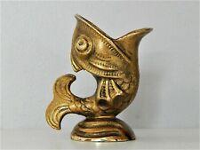 Bronze Figurine Ancienne Sculpture Petit poisson Gueule Ouverte,Vase,Cendrier ?