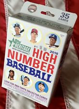 (1) 2018 TOPPS HERITAGE HIGH NUMBER BASEBALL HANGER BOX WITH 35 CARDS