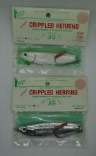 Vintage Crippled Herring Fishing Jigs / Lures 3 oz and 4 oz - Green Point
