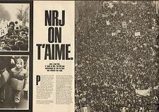 Publicité Advertising 1985  ( Double page )  Radio NRJ  200000 fans