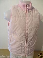 H&M # gefütterte STEPPWESTE Gr. 116 rosa Futter Fleece Mädchen Weste Jacke SUPER