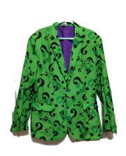 Dc Comics Green Purple Riddler Button Up JACKET ONLY Halloween Costume