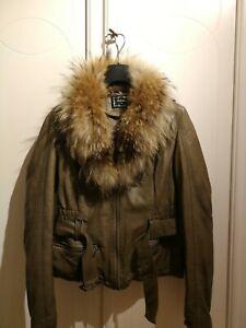 Giubbotto giacca Donna Chiodo Eco Pelle taglia S