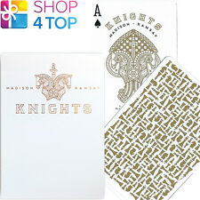 ELLUSIONIST KNIGHTS GOLD WHITE PLAYING CARDS DECK MADISON RAMSAY CHESS NEW