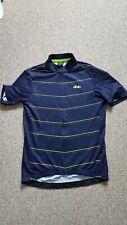 dhb women's short sleeve jersey size - UK 10 blue and bright yellow stripe