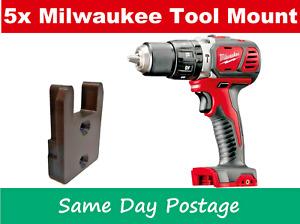 5 x Milwaukee M18 tool holder mount bracket storage 18v