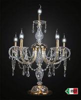 Lume Lampada da tavolo cristallo classico 6 luci mod girandola DESIGN SWAROVSKY