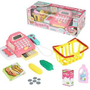 Kids Supermarket Shop Role Play Cash Register Toy Play Food and Toy Trolley UK
