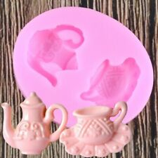 Teapot Silicone Mould for Keychains Pendant Clay Jewelry Making Resin DIY Mold